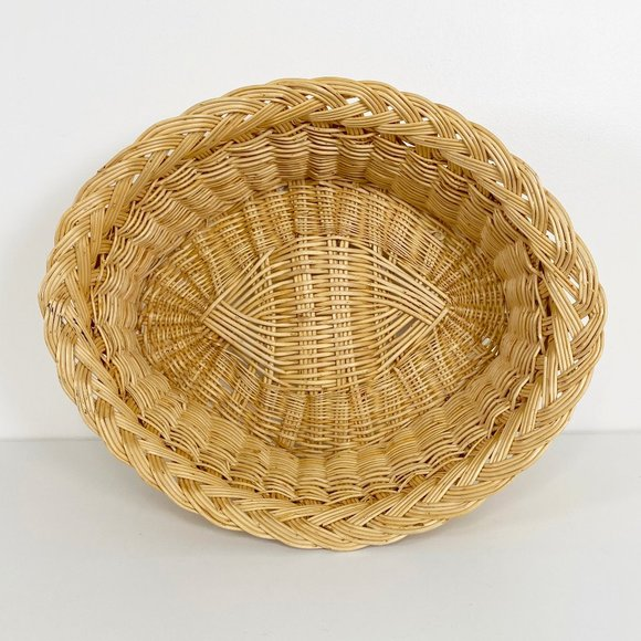 Vintage Almond Shaped Woven Basket